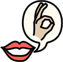 Graphic of hand showing the okay sign with finger and thumb