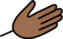 Hand help icon drawing