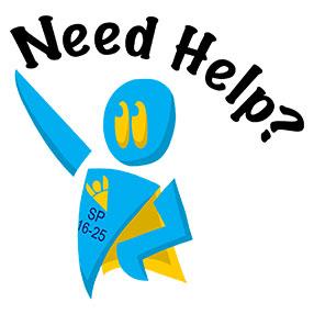 Need help? What we do superhero