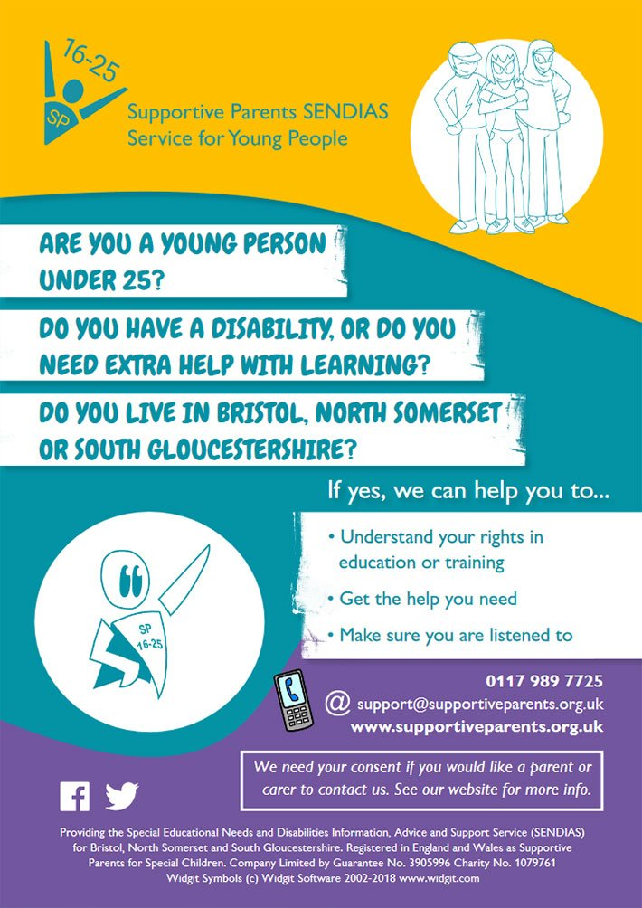 Supportive Parents SENDIAS Service for Young People poster